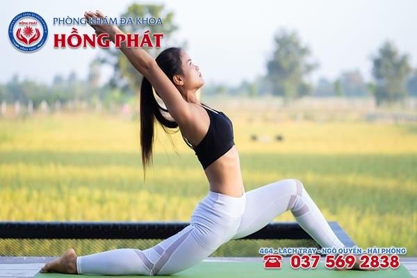 Luyện tập thể dục thể thai thường xuyên sẽ giúp chu kỳ kinh nguyệt được ổn định