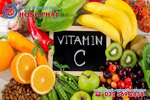 Bổ sung thực phẩm giàu vitamin C trong thực đơn hàng ngày