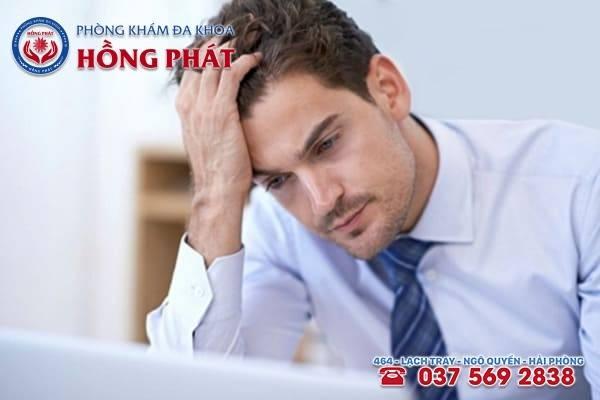 Tâm lý căng thẳng, mệt mỏi là một trong những nguyên nhân gây xuất tinh muộn