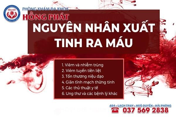 Những nguyên nhân chính gây tình trạng xuất tinh ra máu ở nam giới
