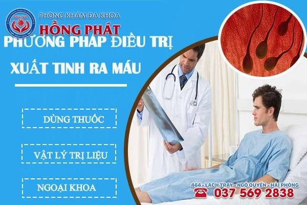 Phương pháp điều trị xuất tinh ra máu hiệu quả hoàn toàn tại Phòng Khám Hồng Phát